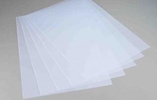 Image of White Translucent Polystyrene Litho Grade