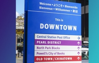 Image of an outdoor wayfinding signage